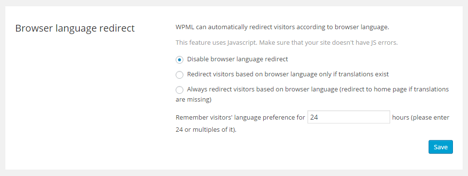 Automatic Redirect Based on Browser Language - WPML
