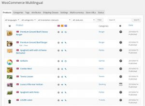 Products Translation Tab Listing All Products