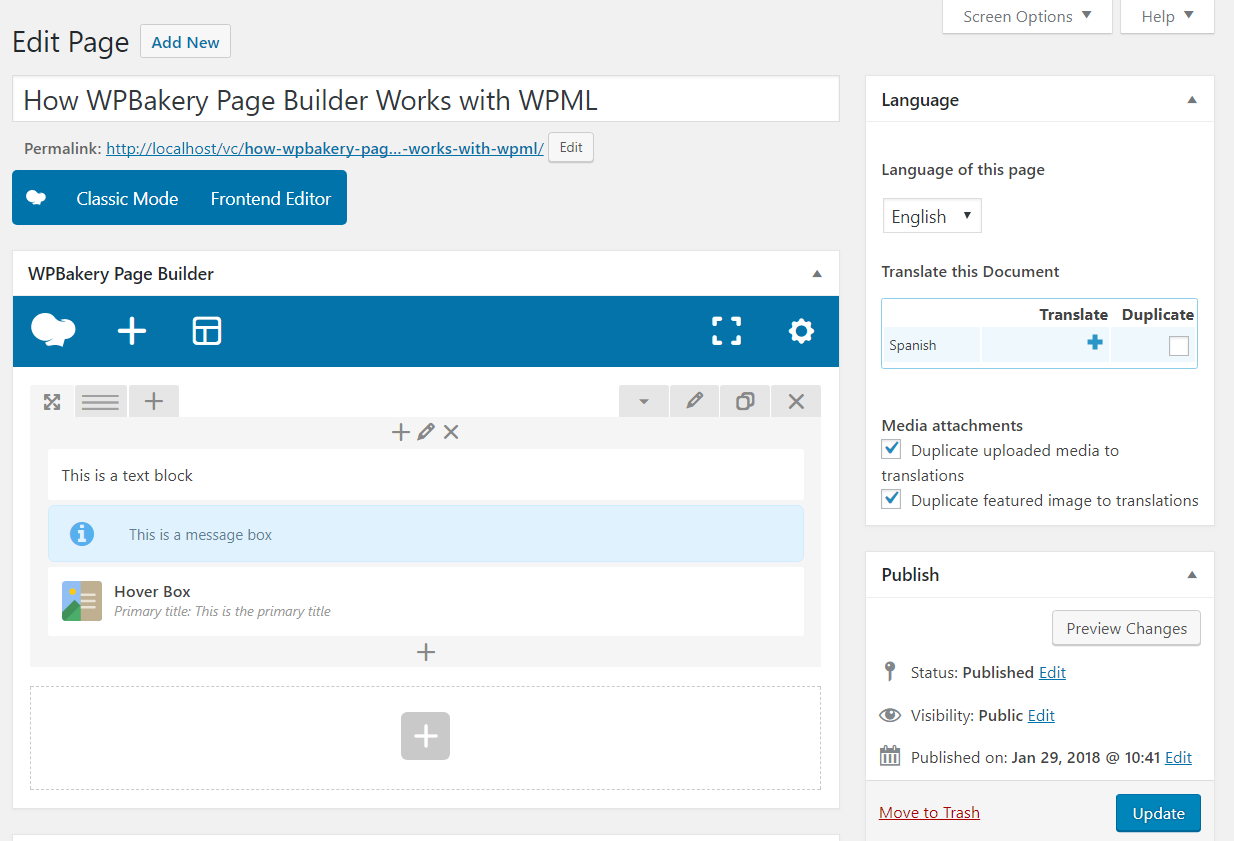 Maintaining WPBakery Page Builder Compatibility with WPML - WPML