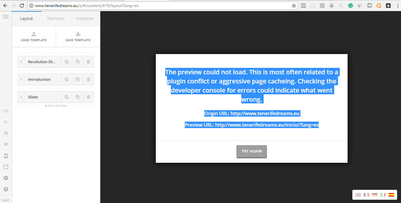 The preview could not load  This is most often related to a