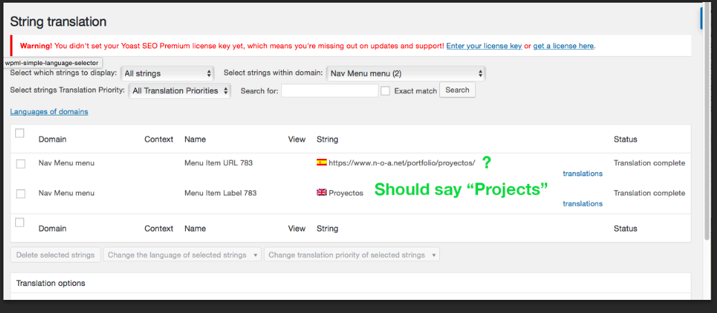 Problem 3 , English should say Projects and spanish not sure.png