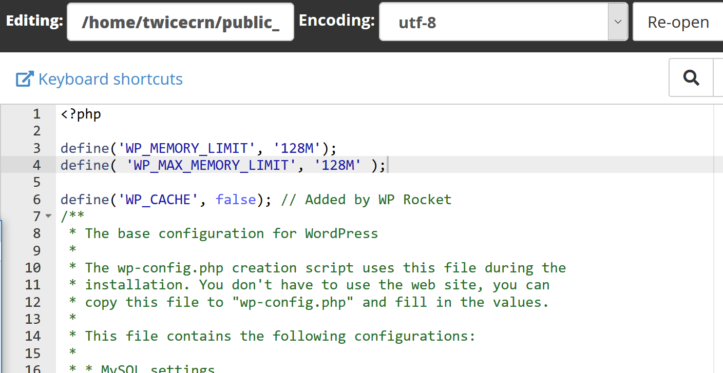 Added it to wp config file as mentioned.PNG