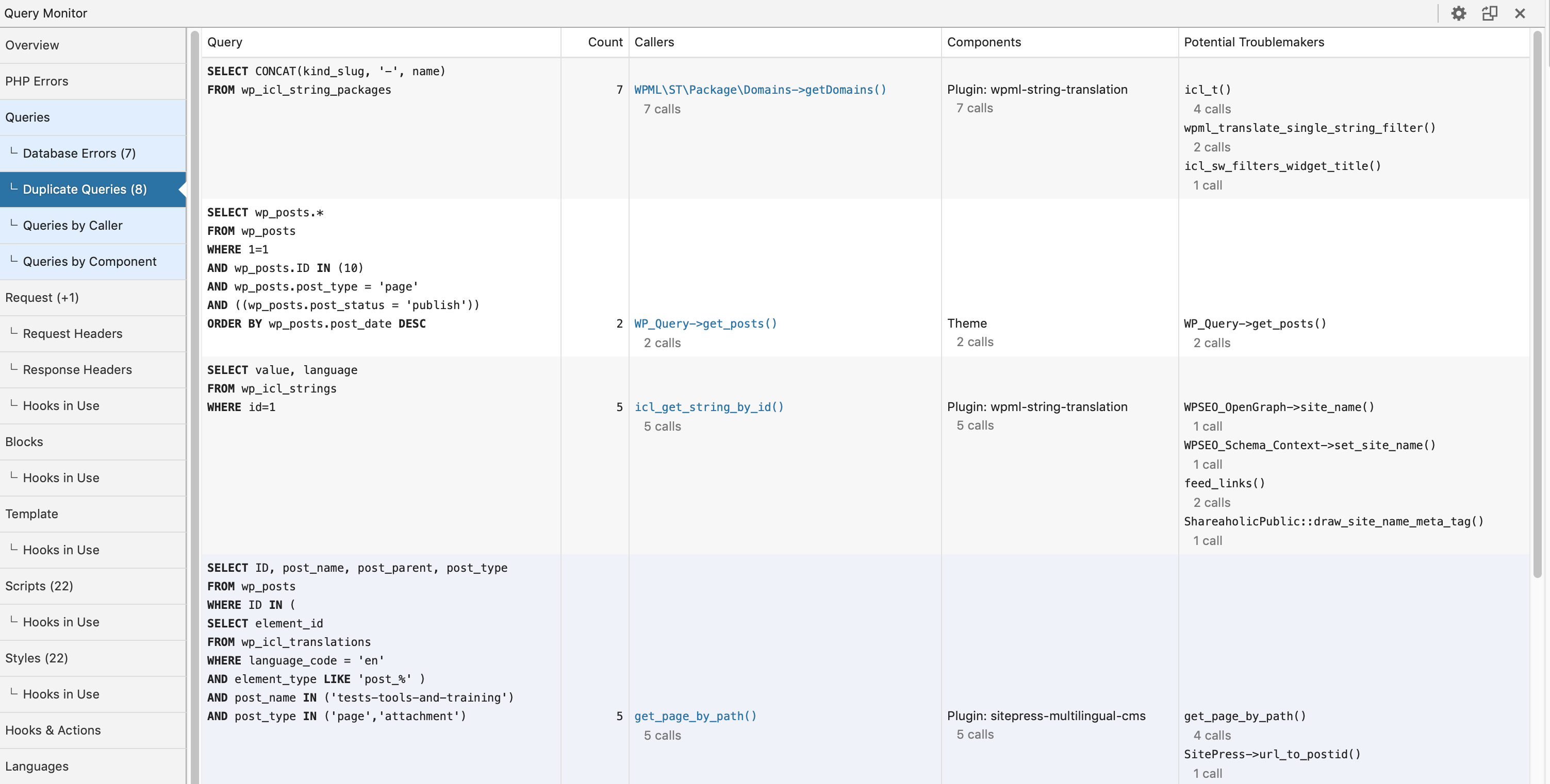 Duplicate queries homepage part 1.png