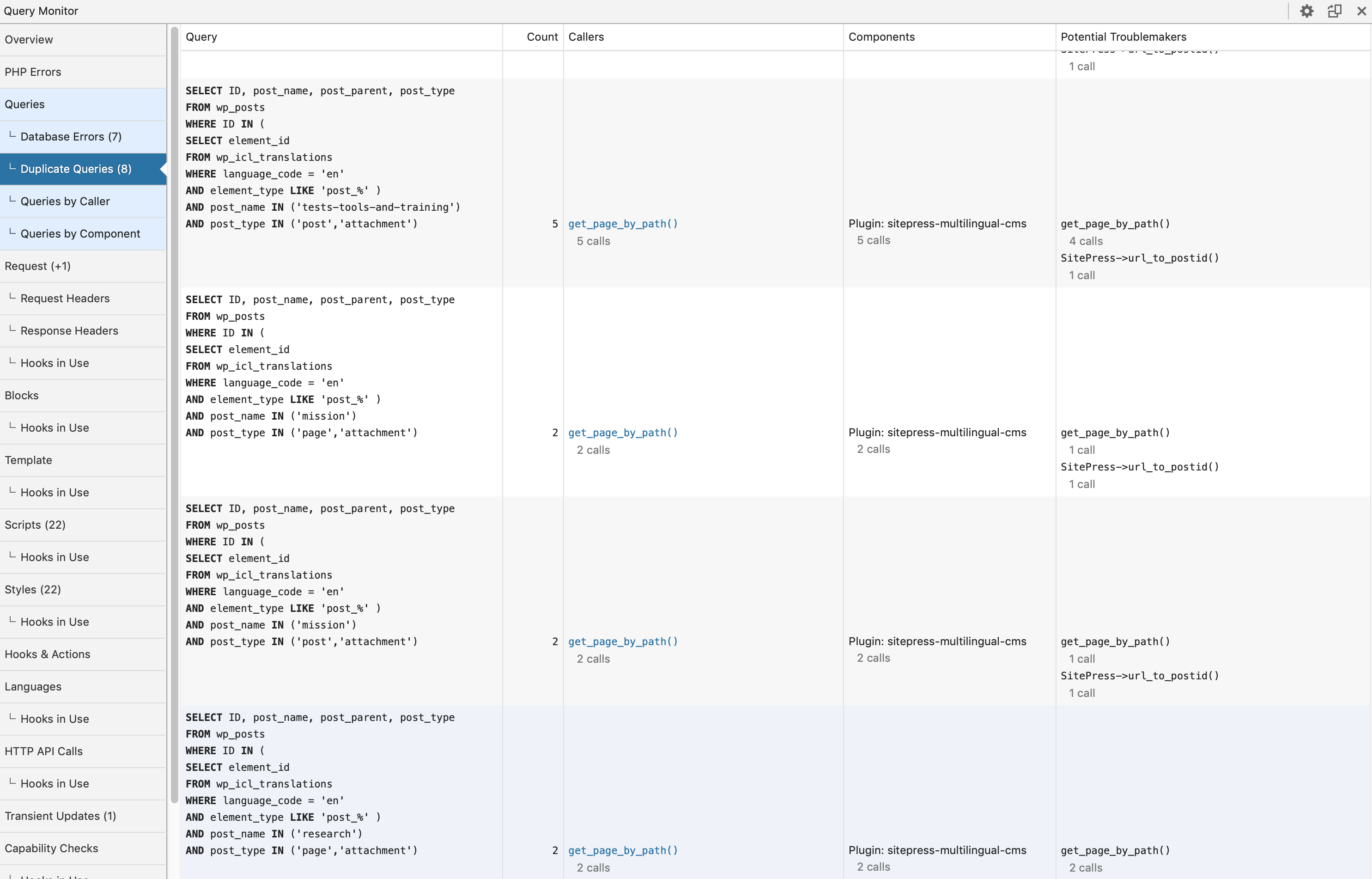Duplicate queries homepage part 2.png
