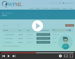Transferring yearly WPML renewals to your clients